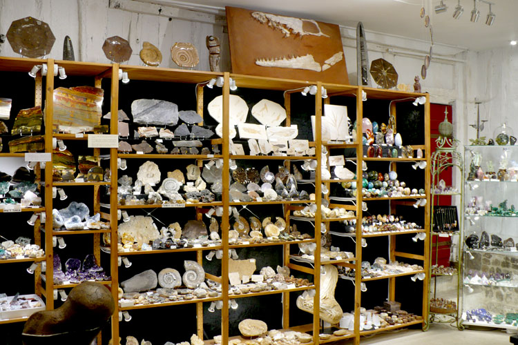 notre boutique de minéraux fossiles